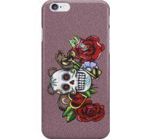 Skull & Roses-Graffit Art iPhone Case/Skin