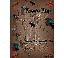 Funny Moose Map Photographic Print