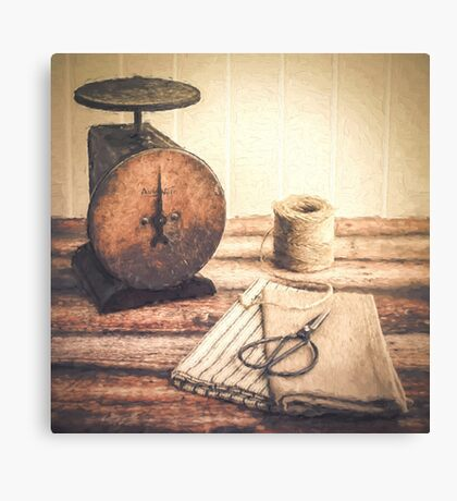 Primitive Textiles Canvas Print