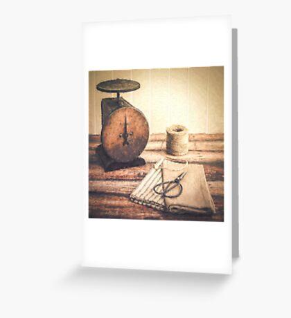 Primitive Textiles Greeting Card