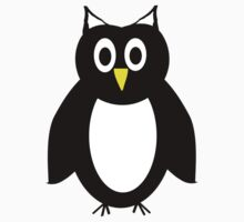 Black And White Owl Design Kids Clothes