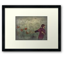 the nightmares of a barista. Framed Print