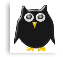 Black Owl Design Canvas Print