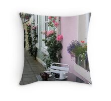 Tea and Roses Throw Pillow