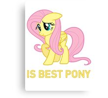 Fluttershy Is Best Pony - MLP FiM - Brony Canvas Print