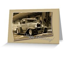 vintage car card Greeting Card