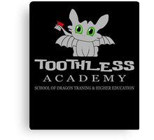 Toothless Academy Canvas Print