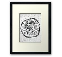 Woke Up Laughing Mandala Framed Print