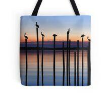Seven Birds at Dusk Tote Bag