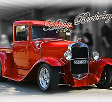 red car birthday card by picketty