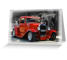 red car birthday card Greeting Card