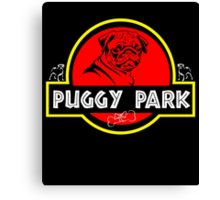 Puggy Park Canvas Print