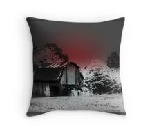 Fall Frosting Black & Red Throw Pillow