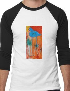 Blue Bird Men's Baseball ¾ T-Shirt