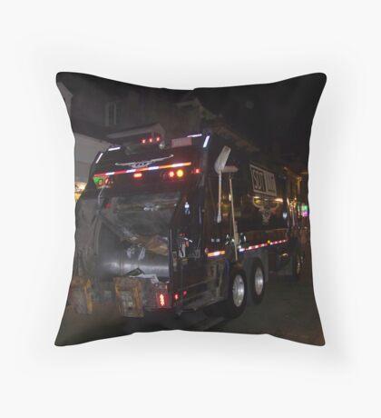 Garbage Men Night Crew Throw Pillow