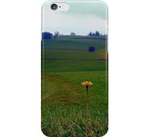 Dandelion with some scenery behind | landscape photography iPhone Case/Skin