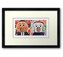 Anpanman Matsumoto and Shokupanman Hamada Framed Print