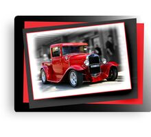 red car poster Canvas Print