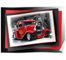 red car poster Poster