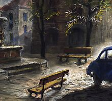 Prague Old Fountain by Yuriy Shevchuk