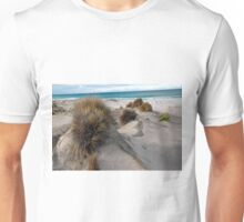 White sandy beach. Unisex T-Shirt