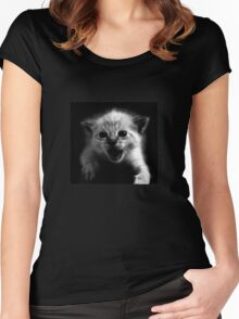 Well Ain't That the Kitten's Meow.... Women's Fitted Scoop T-Shirt