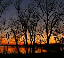 Sunset on the River by LizzieMorrison