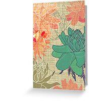 Gingerflower Card on Beige Greeting Card