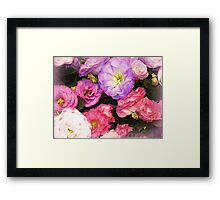 Lisianthus as beautiful  as any Flower Framed Print
