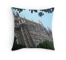 Catedral de Santa María de la Sede Throw Pillow