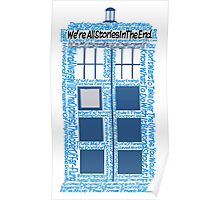 Doctor Who Quotes (White BG) Poster