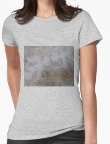 FLORAL RELIEF Womens Fitted T-Shirt