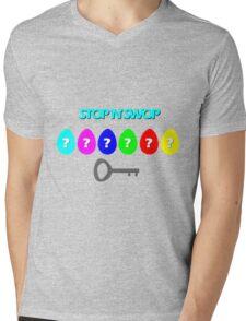 Stop 'N' Swop Mens V-Neck T-Shirt