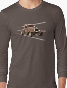 vintage car sepia Long Sleeve T-Shirt
