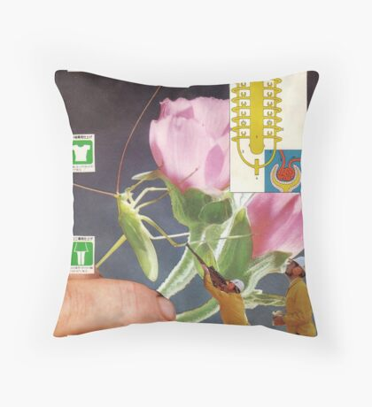 M Blackwell - My Hole Spreads Six Inches... Throw Pillow