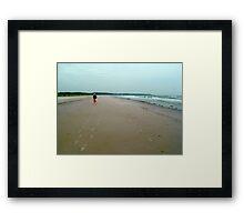 Sand Tracks Framed Print