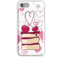 piece of cake with cherries iPhone Case/Skin
