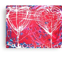 heart couple Canvas Print