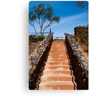 Ornate stairway at Viansa Winery, California Canvas Print
