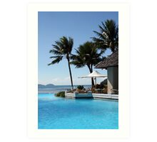 Pool and Sea Australian Resort Art Print