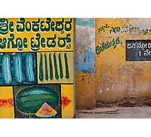 Mysore fruit and veg Photographic Print