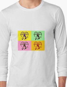 Pop Art Heart Long Sleeve T-Shirt