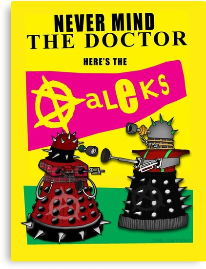 The Punk Daleks  by ToneCartoons