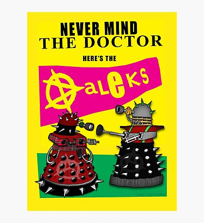 The Punk Daleks  Photographic Print