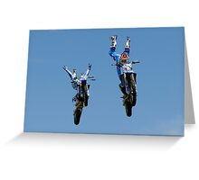 Showtime FMX Yamaha Freestyle Team VII Greeting Card