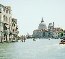 The Grand Canal in Venice in landscape by Elana Bailey