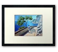 Down around the corner Framed Print