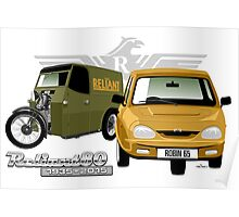 Reliant 80 years - first and last 3-wheeler Poster