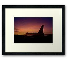 Lightning Sunset  Framed Print