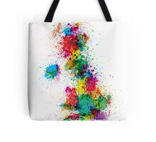 Great Britain UK Map Paint Splashes Tote Bag